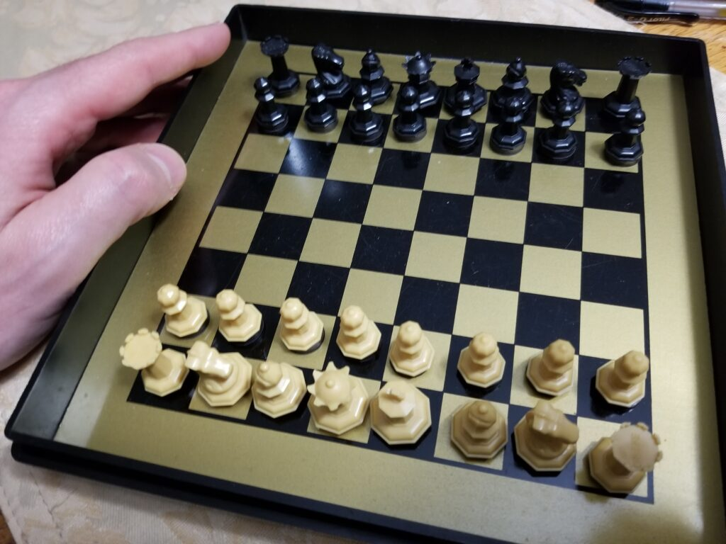 The best pocket chess set I have ever owned.