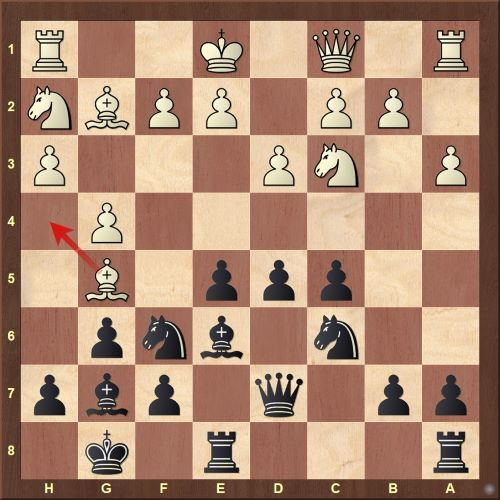 Playing chess after missing the interesting Kh8